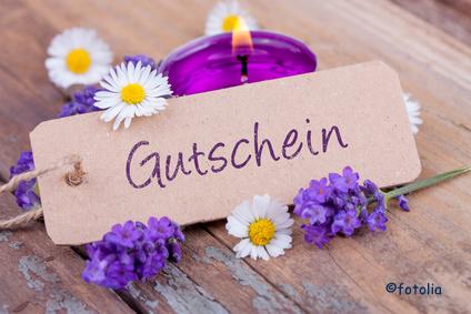 Gutschein - Schild - Wellness
