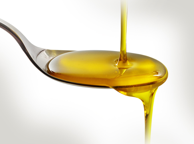 pouring cooking oil