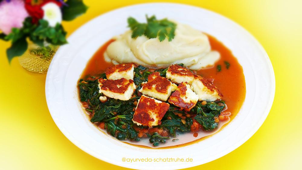 Ayurvedisches Rezept für Spinat mit Panir