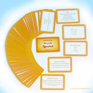 Ayurveda-Set Karten für den Doshatest