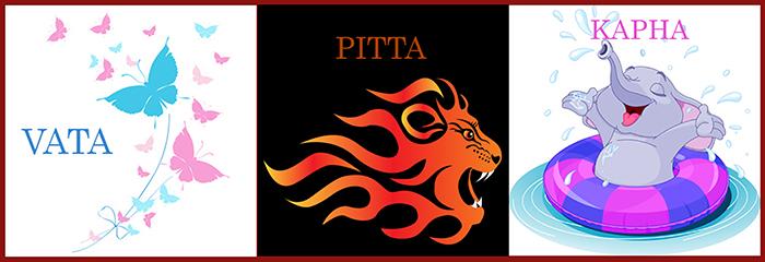 Vata, Pitta und Kapha, die drei Doshas