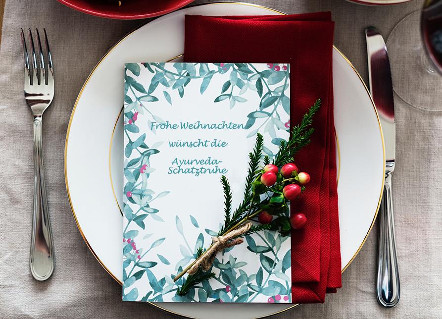 Frohe Weihnachten wünscht Ayurveda-Schatztruhe