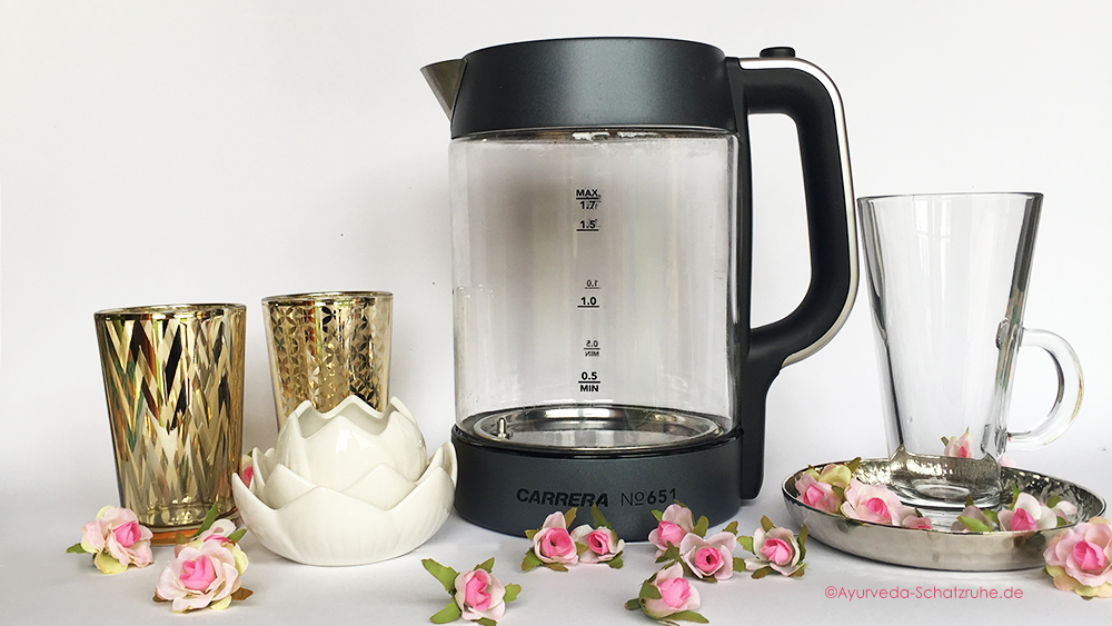 Ayurveda heißes Wasser ayurvedisch Wasserkocher