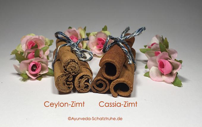 Zimt Ceylonzimt Cassiazimt Ayurveda